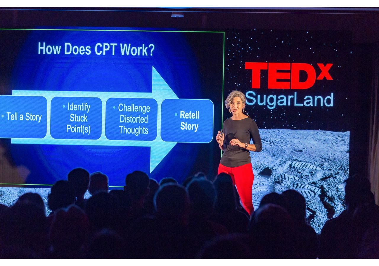 """Dr. Holly M. Hutchins' talk on the topic """"Disrupting Your Work Imposter: How Changing Your Narrative Can Change Your Life,"""" at TEDxSugarLand."""