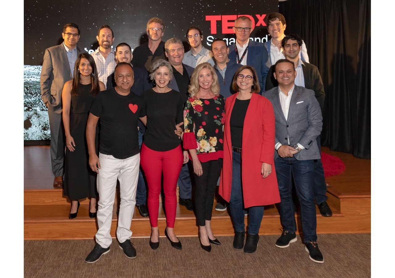 Speakers, moderators, and volunteers at TEDxSugarLand.