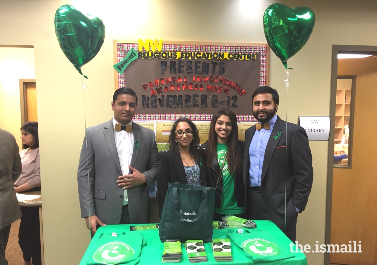 The Sustainable Nation program was launched in the Southeast region in 2015; (From left to right) Adil Devshi, Naina Hashim, Sonya Khimani, and Munir Meghjani.