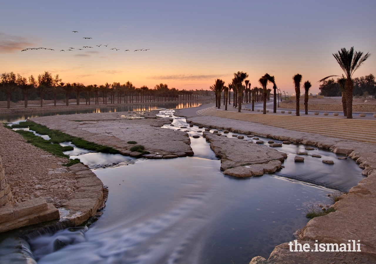 Wadi Hanifa Wetlands, a landscape architecture project in Riyadh, helps to improve flood performance and reduce pollution in local waterways.