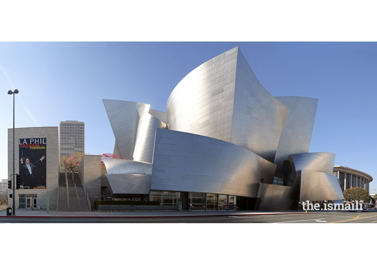 The Walt Disney Concert Hall, Los Angeles, designed by Frank Gehry. While heralded by many, its design has its detractors, and the intense reflective glare and heat from its exterior caused problems for drivers and passers-by.