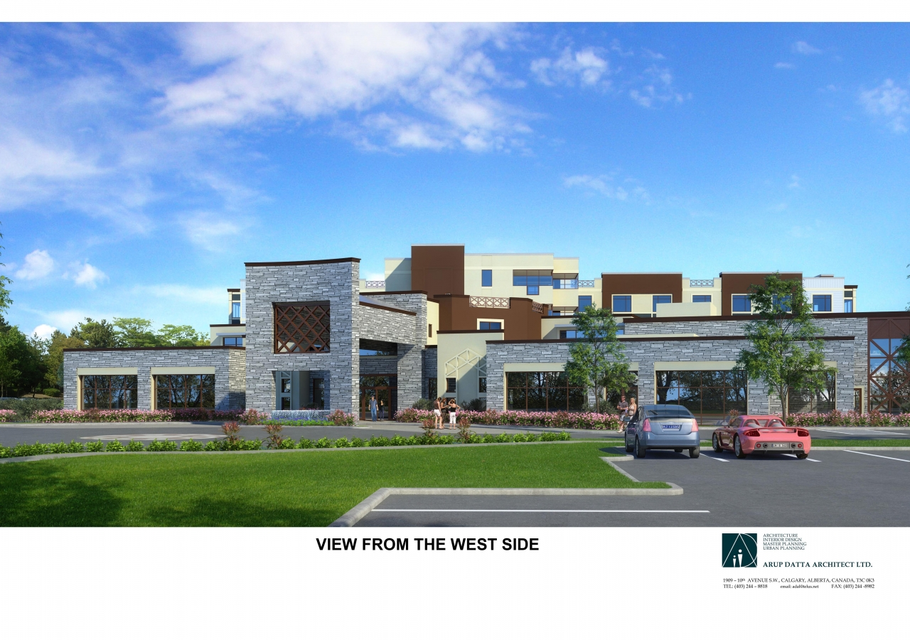 Phase II Generations Campus, Skyview Ranch Calgary West Side View Rendering