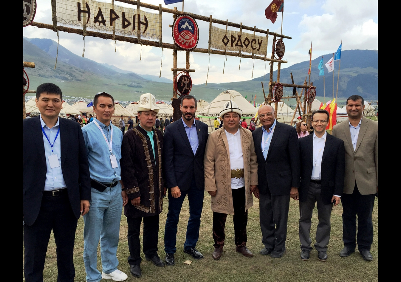 Prince Rahim led the AKDN delegation at the opening ceremony of the Second World Nomad Games in the Kyrgyz Republic. AKDN