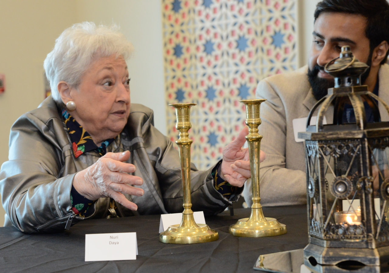 Participants were invited to bring items that held significant spiritual meaning to them. Lively discussions centered around these special items led to a deeper understanding of one another's faiths