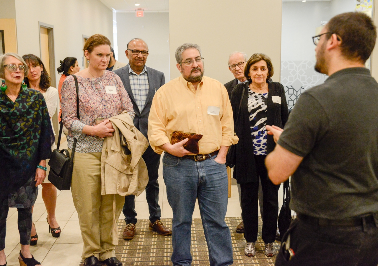 Participants from the Atlanta Jewish community take a tour of the Ismaili Jamatkhana in Norcross, Atlanta.