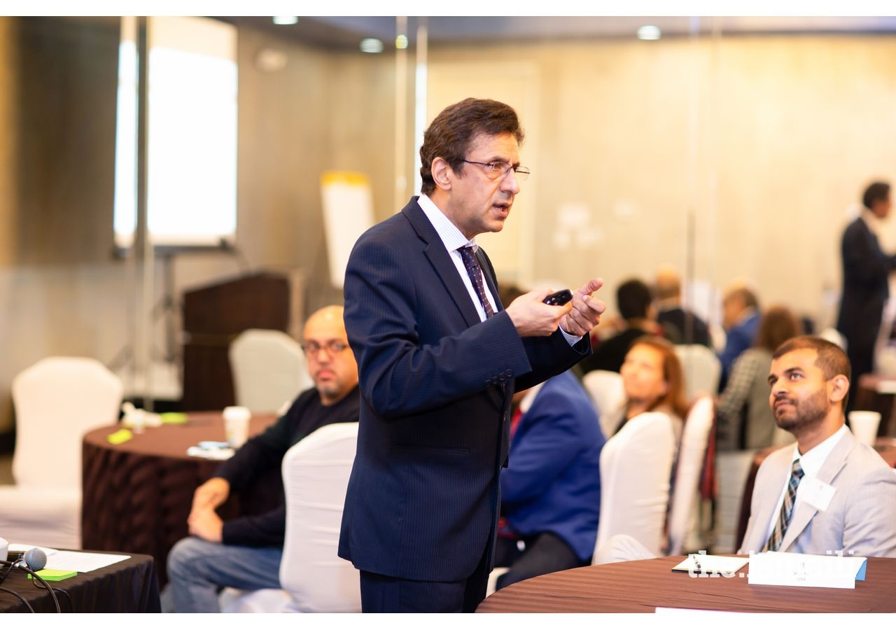 Training modules were moderated by Dr. Karim Gulamali – Course Director of the International Training Programme.