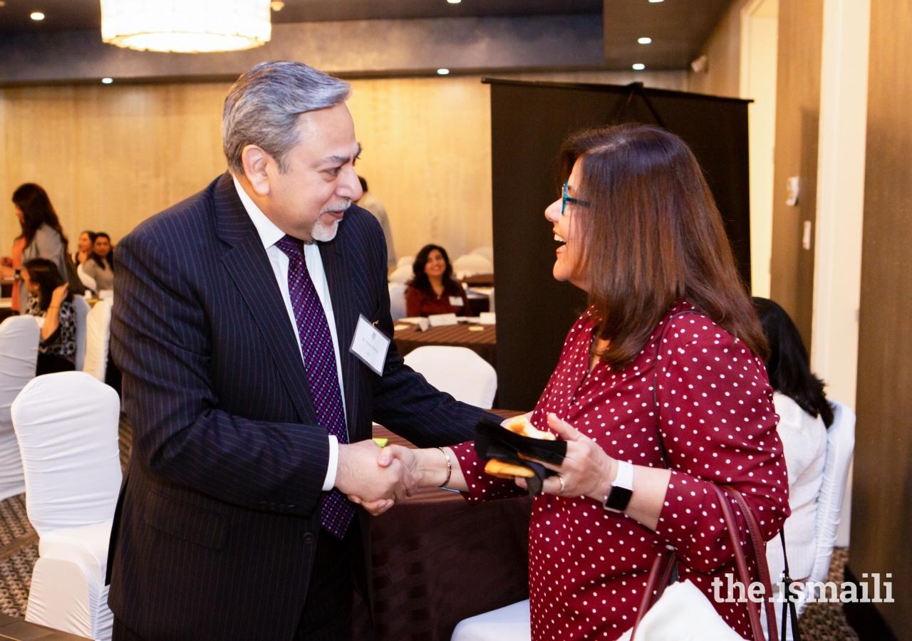 Dr. Shiraz Kabani with Rozina Ramzanali.