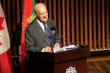 Prince Amyn speaks at the opening ceremony of the Aga Khan Museum on 12 September 2014. Mo Govindji