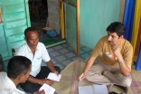 Alam meets regularly with community leaders to involve them in efforts to rebuild.