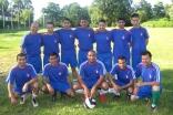 The Ismaili football team <em>United France</em> poses for a team photograph.