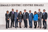 R-L ​: ​​Anthony Giuliani ​and ​Corey Rose​ from the Texas Sec. of State's Office, Samina Hooda, President Nizar Didarali​, Texas Sec. of State Rolando Pablos, V​P Karima Karmali​, Council for Canada, Amir Ali Rupani, Arman Rupani, Nimet Ahmed.