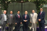 HRH Prince El Hassan bin Talal together with leaders of AKDN and Jamati institutions at the Ismaili Centre, London. Ismaili Council for the UK