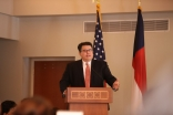 Texas Secretary of State Rolando Pablos delivering the Keynote Address at the Eid Celebration on Saturday, July 8​,​ 2017​,​ at the Ismaili Jamatkhana and Center.