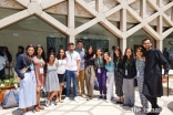 Global Encounters Reunion at the Lisbon Ismaili Centre.  A handful of participants and faculty from the Pakistan 2017 camp pose for a group picture.