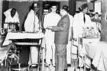 Mawlana Hazar Imam at the Prince Aly Khan Hospital. (Mumbai, 1958) A. H. Ukani