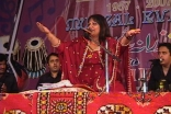Shabnam Merali performs before a live audience.