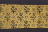 Voided silk-velvet textile fragment from Iran, dating from the first quarter of the 17th century. This fabric represents the type of luxury silks that were produced as a result of Shah Abbas' stimulus to trade with Europe.