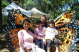 The Alis on a family day out. L to R: Salima, Zain, Arif and Sofia.