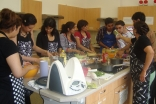 In addition to learning how to cook a selection of traditional dishes, participants received valuable tips from Auntyji Razia Laljee, such as what spices work well with particular foods.