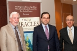 Consul General of Afghanistan, Abdul Majied Danishyar (center), Lee Hilling, and Dr. Rafiq Dossani, Moderator of the discussion at the University of Southern California.