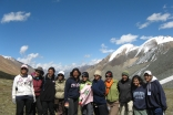 The FOCUS Hike4Life women participants gather for a photo at the highest point of the hike, 3800 metres.
