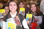 Book club members gather at a book signing event. (L to R: Shabina Premji, Zahra Dedhar, Shyna Dhanani and Shairose Gulamani.)