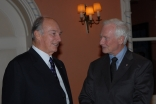 Mawlana Hazar Imam with His Excellency David Johnston, the Governor General of Canada, at Rideau Hall in Ottawa.