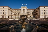 The front facade of the newly refurbished Polana Serena Hotel in Maputo, Mozambique.