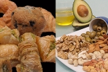 Choose food containing healthier monounsaturated and polyunsaturated fats over unhealthy saturated and trans fats.