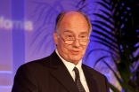 Mawlana Hazar Imam delivers acceptance remarks after being awarded the 2011 UCSF Medal at the University's Founders Day Banquet.