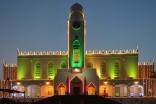 The Kampala Jamatkhana is lit up in celebration of Mawlana Hazar Imam's 2011 visit to Uganda.