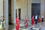 Volunteers prepare to welcome the Jamat to the Ismaili Centre, Dushanbe to celebrate Eid ul-Fitr.