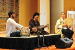 Homayun Sakhi playing the Afghan rubab  with Salar Nader on tabla and Abbos Kosimov on the dayra.