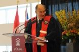 Mawlana Hazar Imam addressing the special convocation at the University of Ottawa where he was confered the honorary degree Doctor of the University.