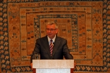 Professor Stephen J. Toope, President and Vice-Chancellor of the University of British Columbia, delivering the inaugural Ismaili Centre Lecture at the Ismaili Centre, Burnaby.