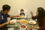 Eating at the table with your children instils healthy habits.