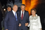 Mawlana Hazar Imam arrives, together with Portuguese President Anibal Cavaco Silva and his wife, Maria Alves da Silva, at the Castle of São Jorge, venue of the 2013 Aga Khan Award for Architecture ceremony.