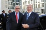 Mawlana Hazar Imam with Germany's foreign minister, Frank-Walter Steinmeier.