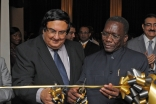 The Prime Minister of Tanzania and the President of the Ismaili Council for Tanzania cut a ribbon to inaugurate RAYS OF LIGHT in Dar es Salaam.