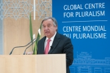 United Nations High Commissioner for Refugees António Guterres delivers the 2014 Annual Pluralism Lecture at the Delegation of the Ismaili Imamat.