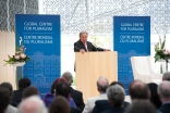 United Nations High Commissioner for Refugees António Guterres delivers the Global Centre for Pluralism's third Annual Pluralism Lecture at the Delegation of the Ismaili Imamat in Ottawa on 29 May 2014.