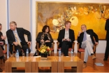 Panelists prepare to address questions from the audience at The Ismaili Centre Lecture Series.