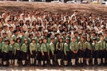 Group photo of Scout Movement in Portugal in 1999.