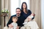 Prince Rahim and Princess Salwa with Prince Irfan and Prince Sinan, who was born on 2 January 2017.
