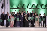 Mawlana Hazar Imam and Sheikh Mohammed bin Rashid Al Maktoum with the winners of the 2016 Aga Khan Award for Architecture. Gary Otte