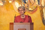 UNESCO Director-General Irina Bokova speaking at the Ismaili Centre, London on protecting cultural heritage. Ismaili Council for the UK