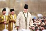 Mawlana Hazar Imam grants a Darbar to the Jamat during his Diamond Jubilee visit in Aliabad, Hunza