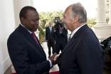Mawlana Hazar Imam and President Kenyatta meet at State House in Nairobi. AKDN / Aziz Islamshah
