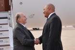 Mawlana Hazar Imam is received by Michael Coteau, Ontario's Minister of Tourism, Culture, and Sport. Amir Hemraj