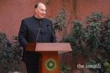 Mawlana Hazar Imam speaking at the inauguration of the CIME's facility.